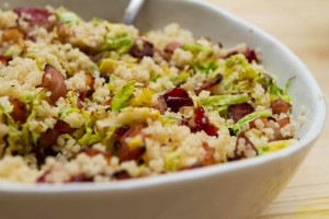 couscous with christmas leftovers