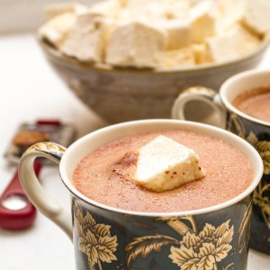 homemade marshmallows on top of hot chocolate