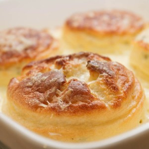 cheese souffle close up