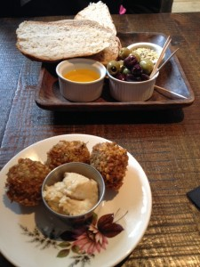 Bread and Falafel at No 5 Winchester