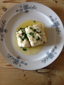 Skrei Cod in Butter and Parsley