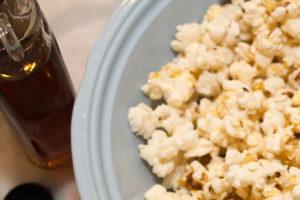 maple and salt popcorn