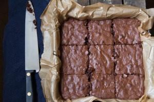 Dark chocolate, orange and hazelnut brownies