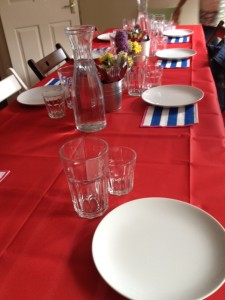 Israeli Pop Up Dinner - table laid