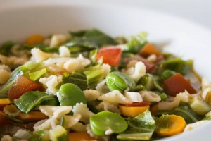 close up summer veg minestrone