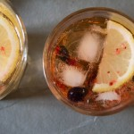 Elderflower and Blackcurrant Gin and Tonic bird's eye
