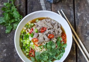 pulled duck ramen ready to eat