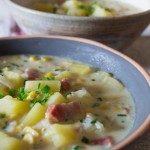 Sweetcorn chowder - close up