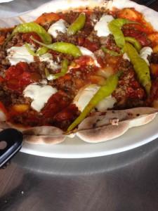 Hot chilli pizza at Baravin