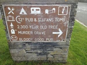 Welsh pub sign