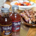stokes sauces on the table
