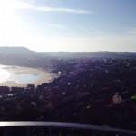 overlooking Scarborough beach