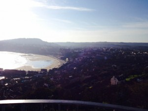overlooking Scarborough beach