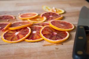 sliced blood oranges