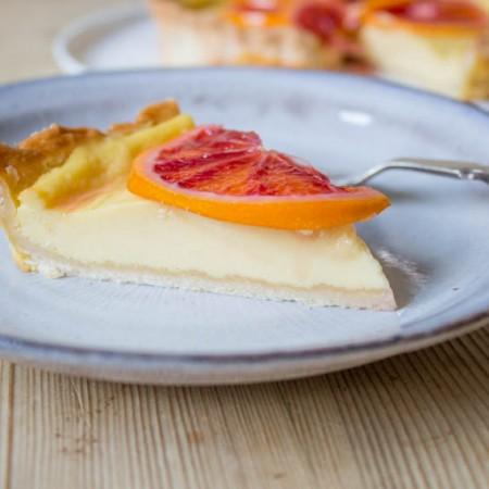 Slice of Blood Orange Tart