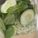 Elderflower, Cucumber and Mint Gin - after adding gin