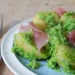 Mushy Peas Potatoes and Ham