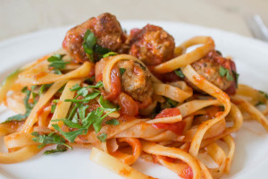Easy Meatballs with Herby Tomato Sauce