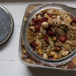 Easy Homemade Granola in jar