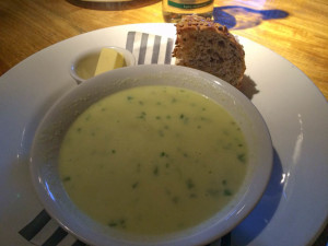 Cauliflower soup starter