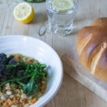 Easy White Bean Stew and Purple Sprouting Broccoli - All That I'm Eating