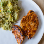 Harissa Chicken with Quinoa, Avocado and Mango - All That I'm Eating