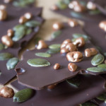 Topped Chocolate - honeycomb and pumpkin seed