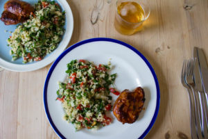 Eating Organic on a Budget - Harissa Lamb with Tabbouleh