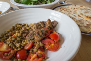 Eating Organic on a Budget - Lamb, Lentils and Flatbreads