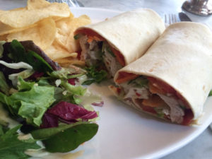 Stop the World Cafe - chicken wrap