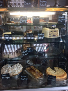 Stop the World Cafe - cake cabinet