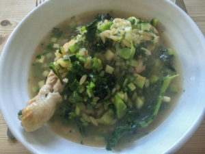 Eating Organic on a Budget - chicken minestrone