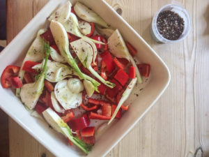 Eating Organic on a Budget - fennel and peppers