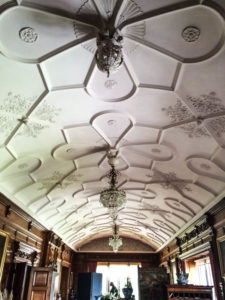 North Cornwall Coast Road Trip - Lanhydrock Ceiling