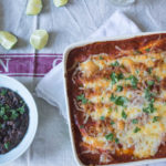 Chipotle Chicken Enchiladas with black beans