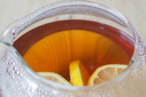 Lemon Iced Tea - brewing