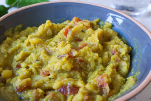 Yellow Split Pea Dahl - close up