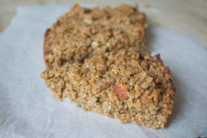 Apple and Nut Flapjacks - close up