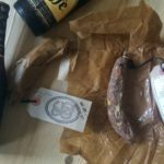 Leffe beers and cured sausages