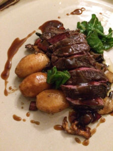 venison and chard