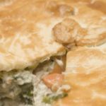 Chicken and Vegetable Pie cut into