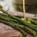 Asparagus with Hollandaise and ham