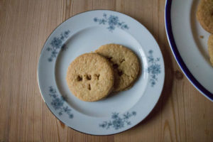 Granny's Oat Biscuits - on a plate