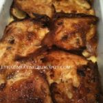 panettone and marmalade bread and butter pudding cooked