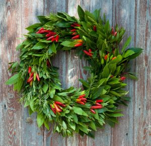Rocket Gardens Edible Wreath