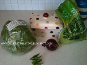 ingredients for lettuce soup