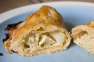 Cheddar and Onions inside Turnover