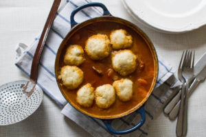 Beef Stew with Horseradish Dumplings