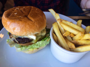 Brie and mushroom burger at Browns