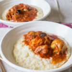 Chicken, Olive and Artichoke Stew with Risotto